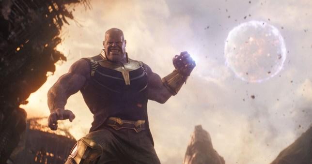 "No Merchandising. Editorial Use Only. No Book Cover Usage Mandatory Credit: Photo by Marvel/Disney/Kobal/REX/Shutterstock (9641147bd) Thanos (Josh Brolin) ""Marvel's Avengers: Infinity War"" Film - 2018"