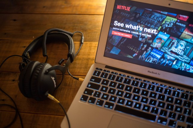 The Netflix website seen displayed on a Apple MacBook Air computer