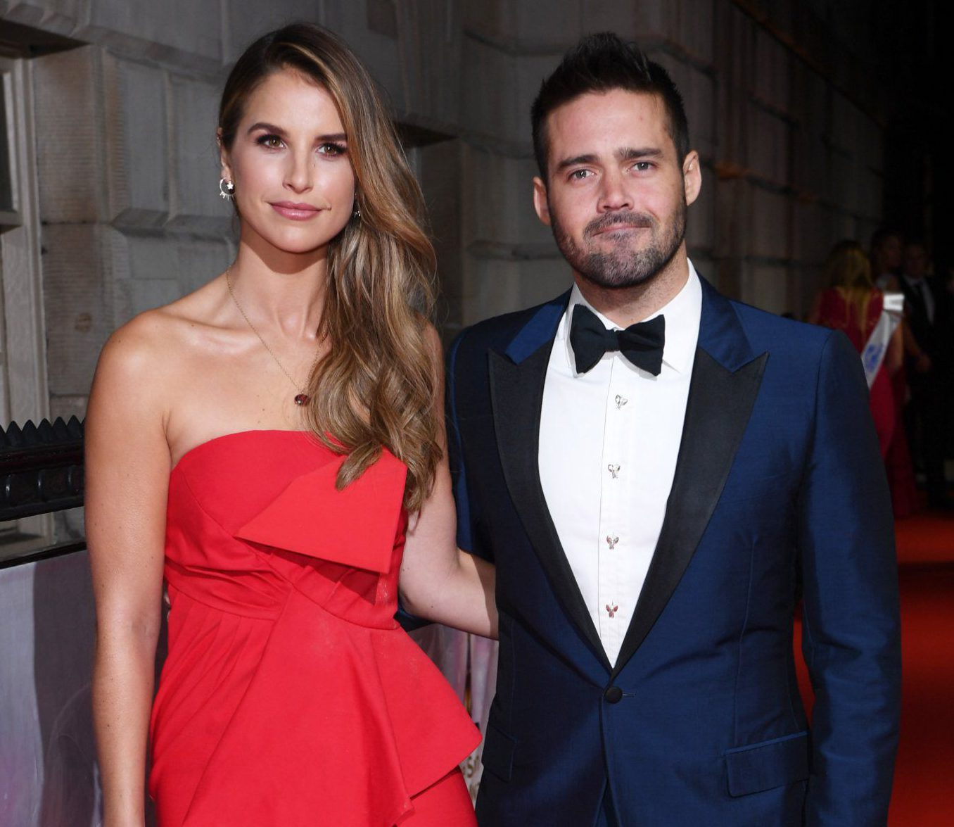 Proud husband Spencer Matthews can't resist showing off pregnant Vogue Williams' baby bump