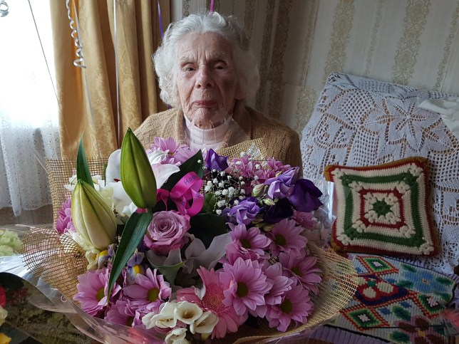 (Picture: Daily Mail) Sophia Kaczan, a Polish woman who has lived here since after the war. Widow, no children. A 100-year-old woman was left with a broken neck after being knocked to the ground by muggers who took her handbag. The centenarian had her green handbag stolen at 8.30am today near the junction of St Chad's Road and Empress Road in Normanton, Derbyshire, police said.