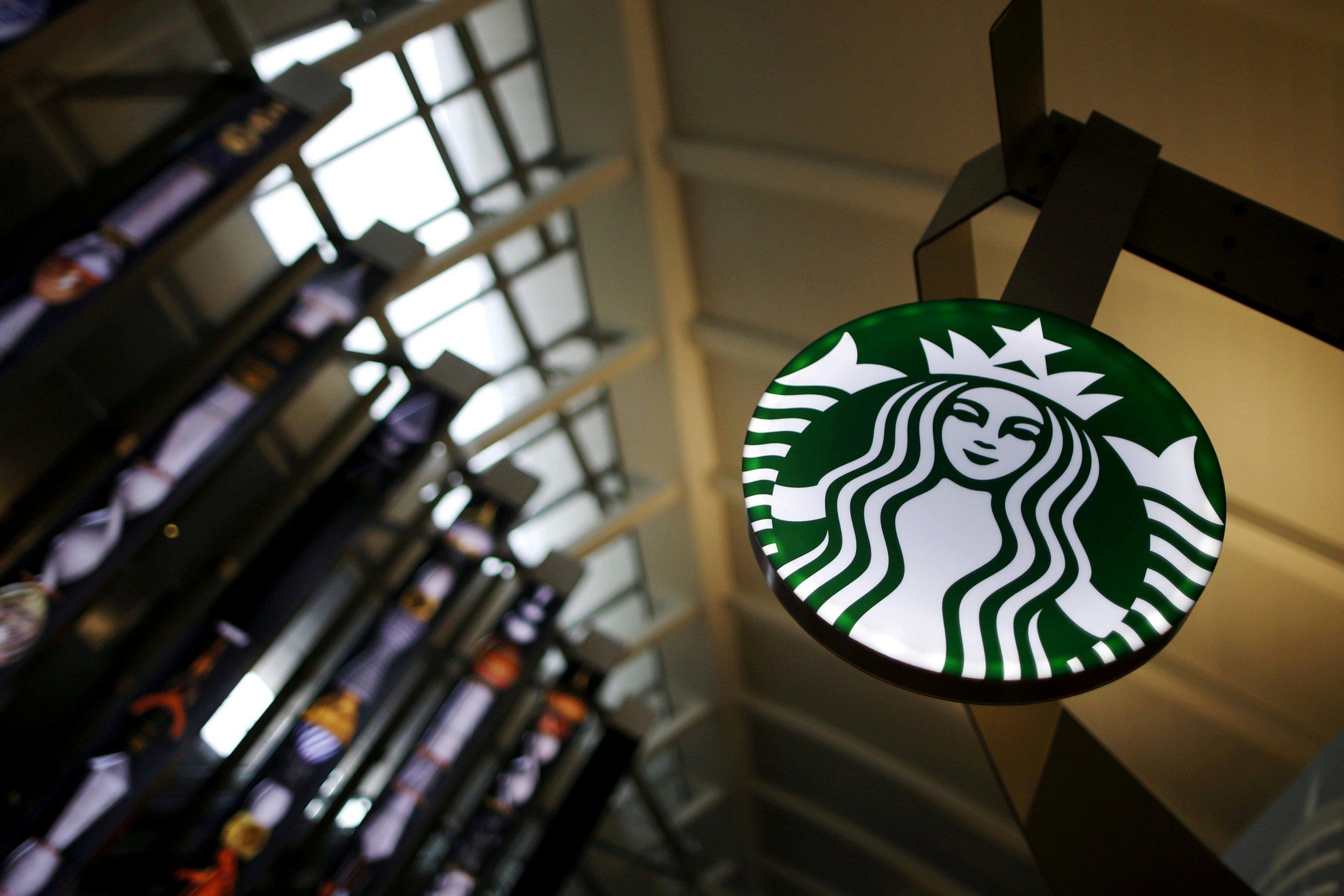 FILE PHOTO: A Starbucks store is seen inside the Tom Bradley terminal at LAX airport in Los Angeles, California, U.S. on October 27, 2015. REUTERS/Lucy Nicholson/File Photo
