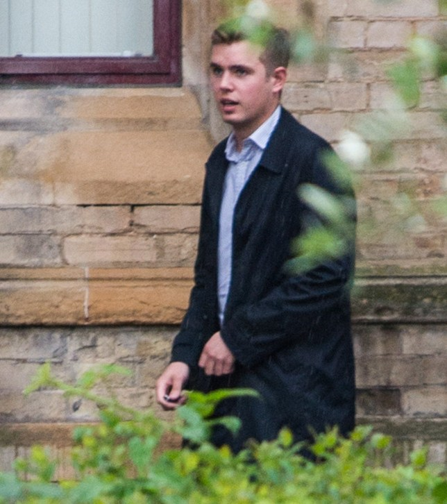 29/05/2018 Wood Green Crown Court (London) Pic shows Alexander Broke-Smith outside the court. A former Charterhouse pupil groped a venue manager at an arts centre for a 'dare', a court heard today (tues). Alexander Broke-Smith, 23, allegedly sexually assaulted the woman while attending a joint 18th and 21st birthday party in north London with his girlfriend on July 12 last year. The couple were with their friends at the bar when the manager came over and asked about the tab. SEE STORY CENTRAL NEWS. 020 72360116. Picture: Brais G. Rouco/ Central News