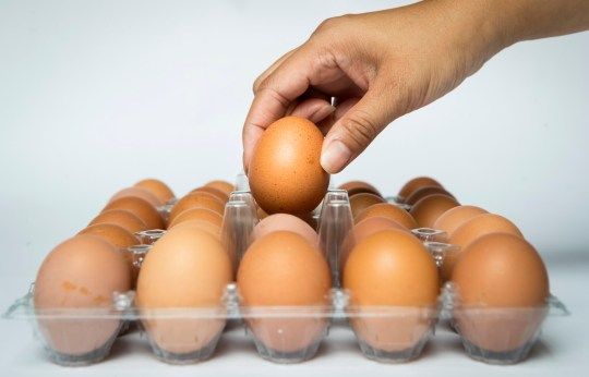 A box of eggs as four supermarkets have taken products off their shelves in the wake of the egg contamination scare - as the Food Standards Agency says the scale of the problem is higher than previously thought.