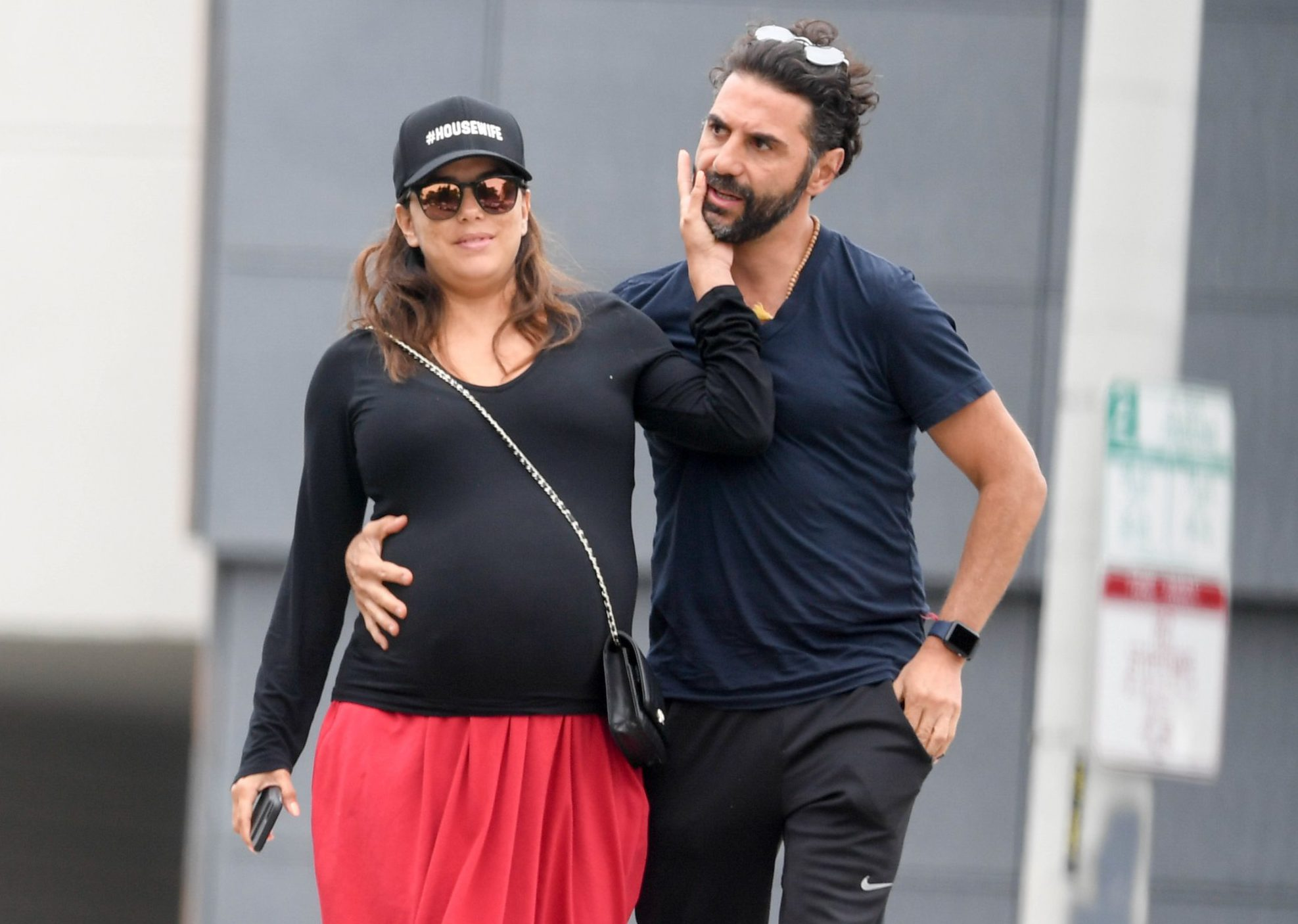 Eva Longoria and husband Jose Baston show affection as they leave a late lunch at Tocaya. 29 May 2018 Pictured: Eva Longoria and Jose Baston. Photo credit: MEGA TheMegaAgency.com +1 888 505 6342