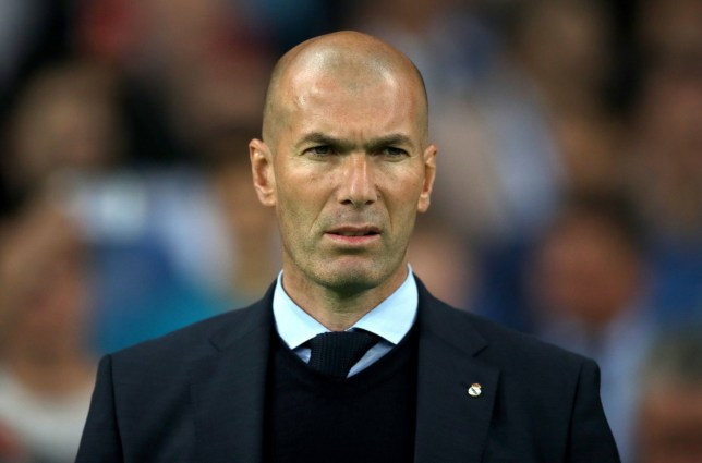 File photo dated 26-05-2018 of Real Madrid manager Zinedine Zidane. PRESS ASSOCIATION Photo. Issue date: Thursday May 31, 2018. Zinedine Zidane has announced his departure as head coach of Champions League winners Real Madrid. See PA story SOCCER Real Madrid. Photo credit should read Nick Potts/PA Wire.