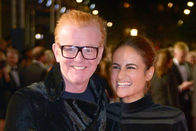 File photo dated 26/10/15 of Chris Evans and his wife Natasha Evans, as the presenter announced on the BBC Radio 2 show that the couple were expecting twins. PRESS ASSOCIATION Photo. Issue date: Monday April 16, 2018. See PA story SHOWBIZ Evans. Photo credit should read: Anthony Devlin/PA Wire
