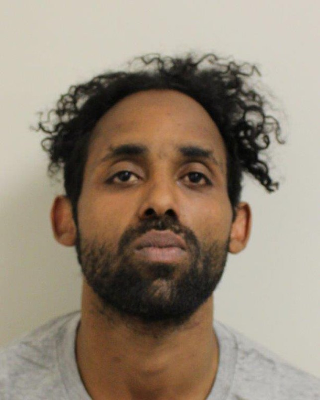 Pic shows Sabir Sharife A Somali sex beast who tried to murder a stranger in an attack that would 'send a chill down the spine of anyone' travelling home late at night has been jailed for life. Sabir Sharife, 32, spotted his victim after she mistakenly took a bus to Hackney, east London, on her way home from a night out with friends. Sharife stalked the woman through the streets armed with a large serrated blade before sexually assaulting her in the early hours of April 9. SEE STORY CENTRAL NEWS