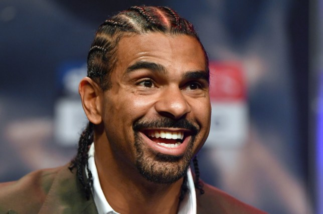 David Haye laughs during the press conference at the Echo Arena, Liverpool. PRESS ASSOCIATION Photo. Picture date: Monday April 30, 2018. See PA story BOXING Liverpool. Photo credit should read: Anthony Devlin/PA Wire