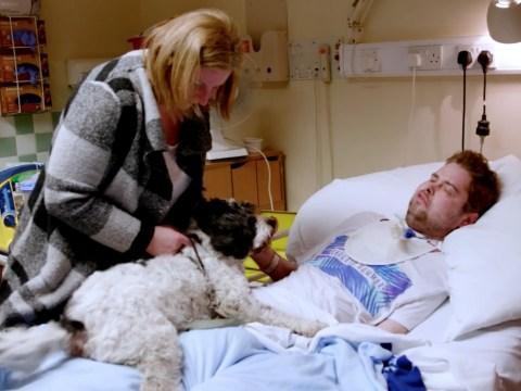 Heartbreaking photo shows terminally ill man saying goodbye to his dog