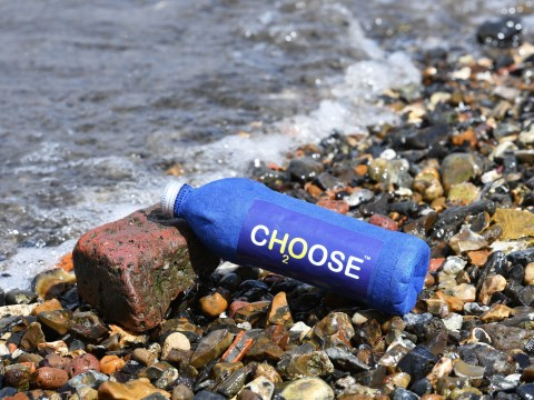 This eco-friendly water bottle is made from recycled paper and disintegrates in three weeks