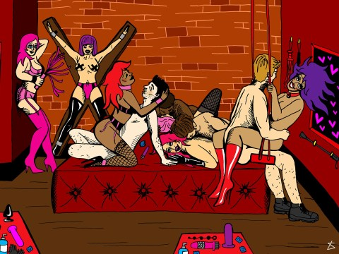 'It helps to be blindfolded, let's put it that way': We find out what really goes on at sex clubs