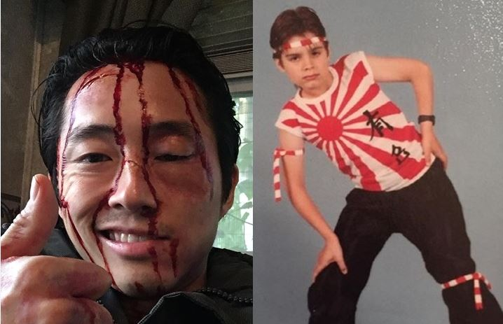 Steven Yeun refuses Cannes interviews after being slammed for liking Japanese Rising Sun flag photo
