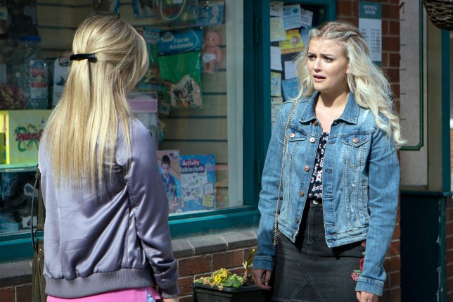 Bethany is shocked at Sarah in Coronation Street