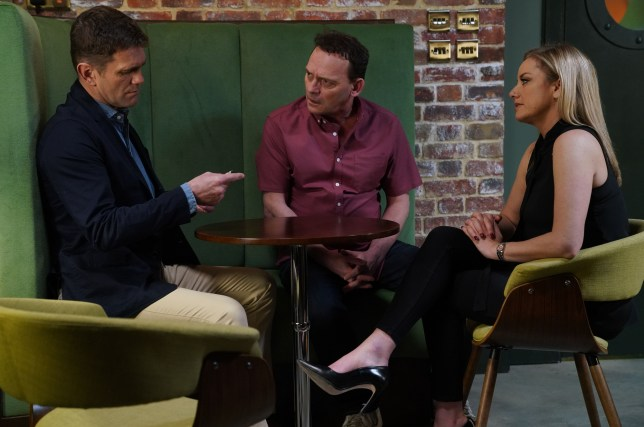 Jack and Mel talk about the money in EastEnders