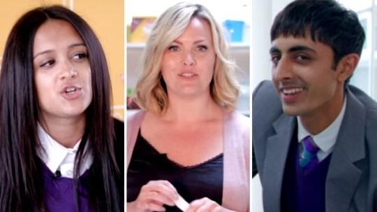 Ackley Bridge cast members in new video