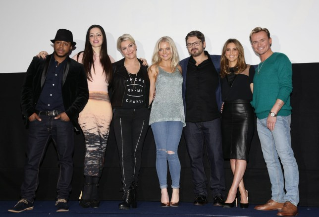 (left to right) Bradley McIntosh, Tina Barrett, Jo O'Meara, Hannah Spearritt, Paul Cattermole, Rachel Stevens and Jon Lee of S Club 7 during a photocall to announce the 2015 'Bring It All Back' arena tour, at The Ham Yard Hotel in Soho, London. PRESS ASSOCIATION Photo. Picture date: Monday November 17, 2014. Photo credit should read: Yui Mok/PA Wire