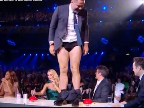 Amanda Holden pulls down David Walliams' pants live on Britain's Got More Talent