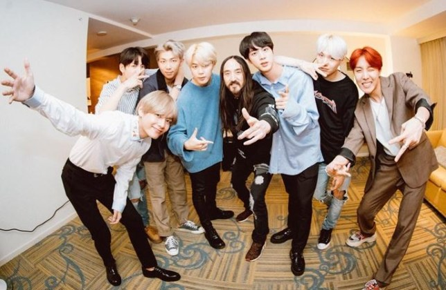 BTS The Truth Untold remix dropped by Steve Aoki at Tomorrowland