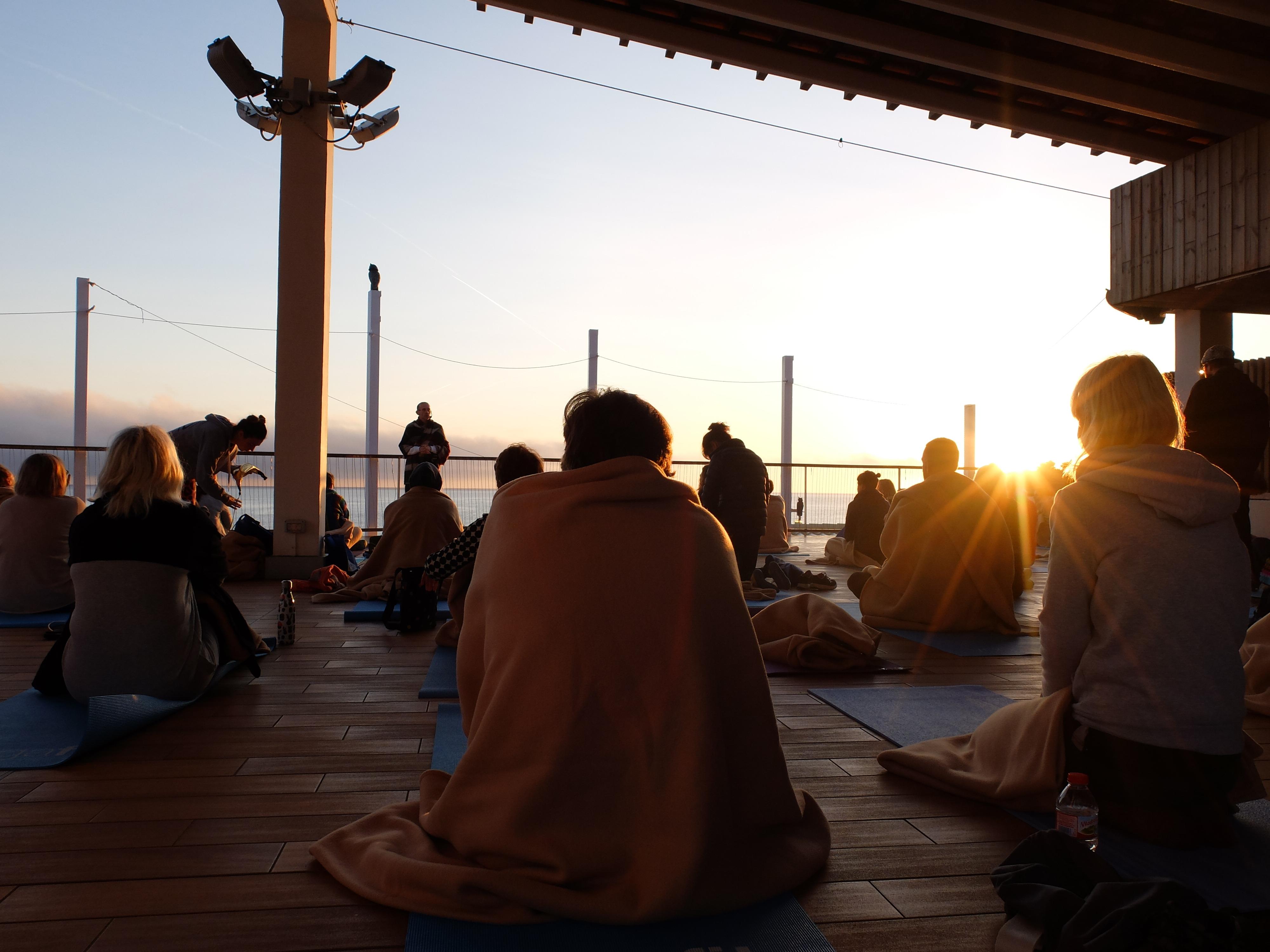 Sunrise yoga at YogaFit Ibiza in April 2018