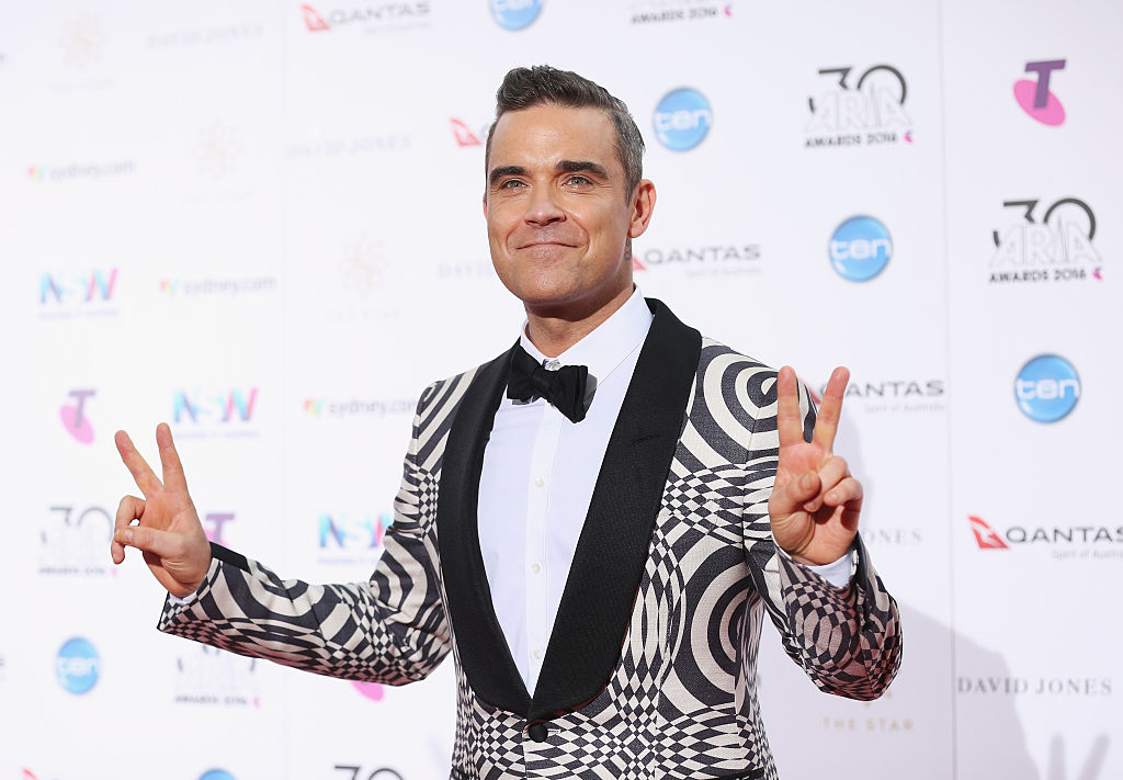 Robbie Williams has previously claimed to have spotted a UFO