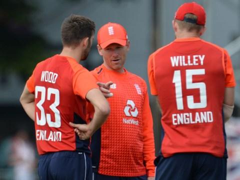 England captain Eoin Morgan reacts to shock Scotland defeat