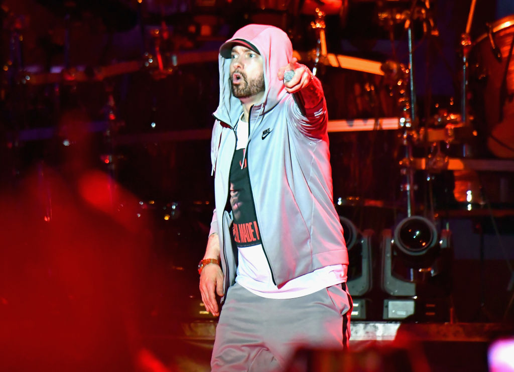 So Eminem didn't use gunshot sound during gig? The sound that left fans screaming was apparently 'pyrotechnics'