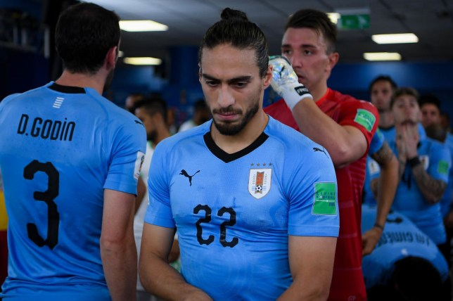 8415c1357d1 Martin Caceres sporting the four stars on his Uruguay shirt (Picture  Getty  Images)