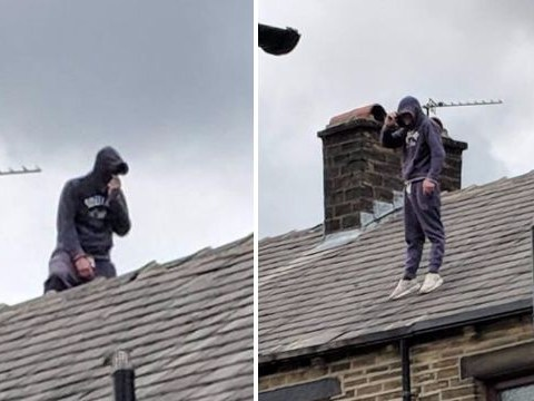 Man in rooftop stand-off with police after 'confrontation' with paedophile hunters