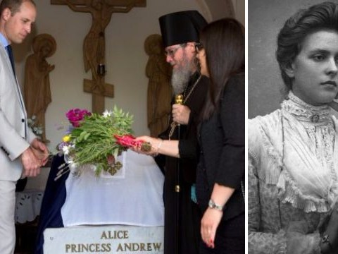 Who was Princess Alice of Greece, where is her grave and how is Prince William related to her?