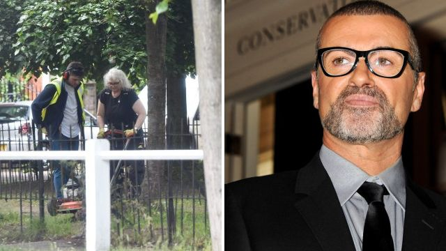 George Michael memorial is stripped down and removed a year after his death