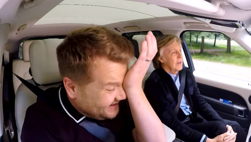 James Corden gets emotional belting out Beatles classics with Paul McCartney on Carpool Karaoke