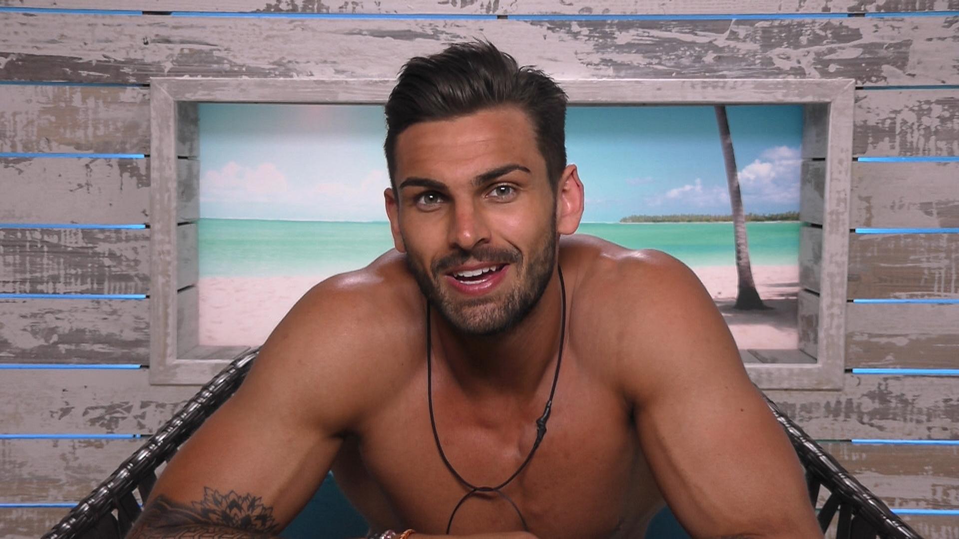 Adam Collard is having a blast in the Love Island villa (Picture: ITV2)