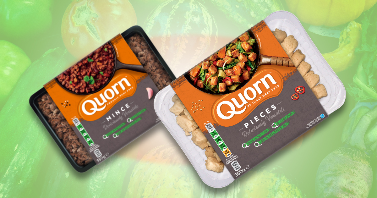 Quorn's new recyclable and old non-recyclable packaging