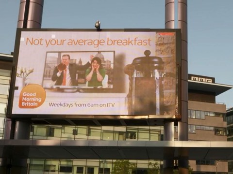 Dan Walker fires back as Piers Morgan trolls BBC Breakfast with Good Morning Britain poster outside Salford studios