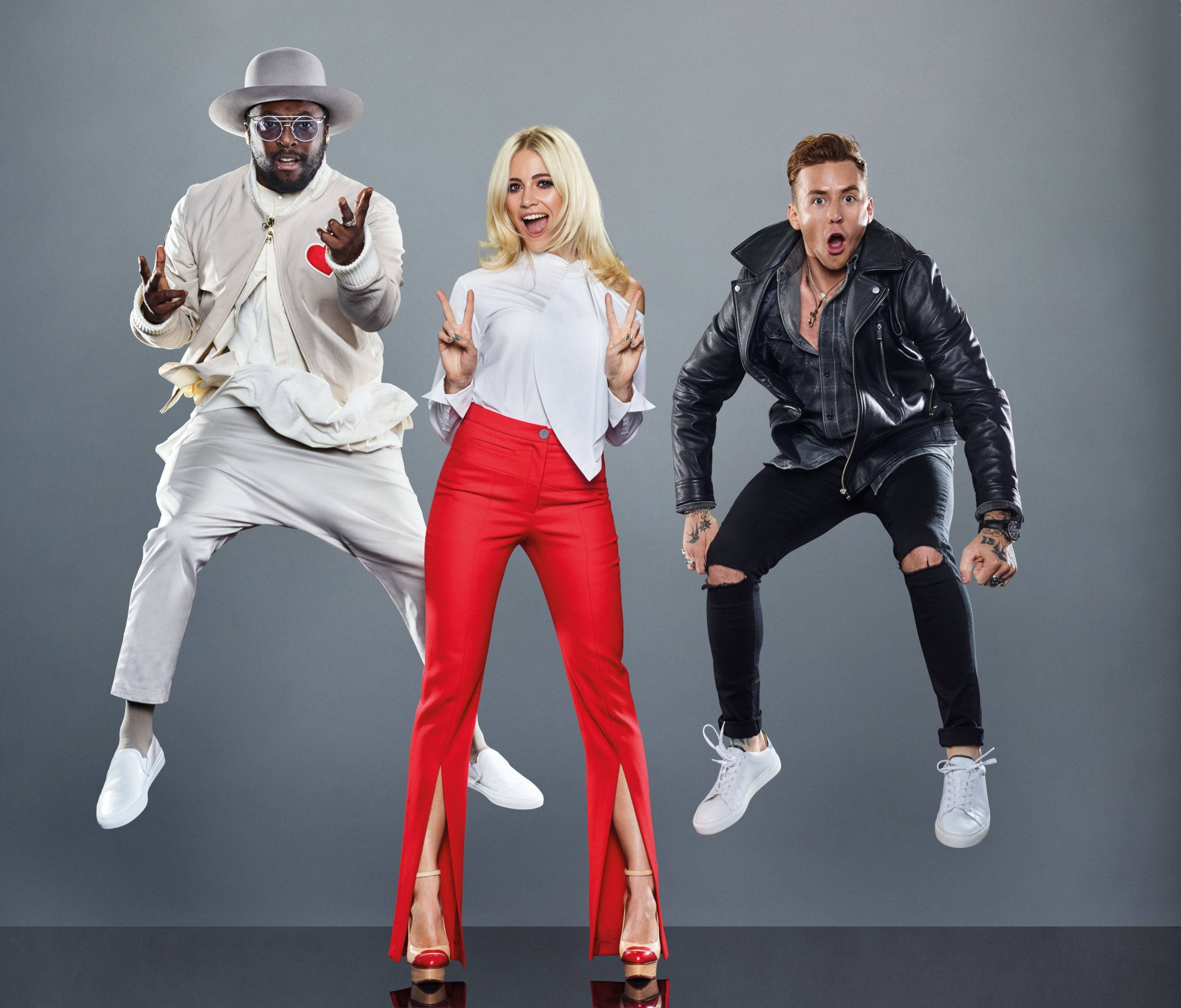 Television Programme : The Voice Kids on ITV Pictured: will.i.am, Pixie Lott and Danny Jones. This photograph is (C) ITV Plc and can only be reproduced for editorial purposes directly in connection with the programme or event mentioned above, or ITV plc. Once made available by ITV plc Picture Desk, this photograph can be reproduced once only up until the transmission [TX] date and no reproduction fee will be charged. Any subsequent usage may incur a fee. This photograph must not be manipulated [excluding basic cropping] in a manner which alters the visual appearance of the person photographed deemed detrimental or inappropriate by ITV plc Picture Desk. This photograph must not be syndicated to any other company, publication or website, or permanently archived, without the express written permission of ITV Plc Picture Desk. Full Terms and conditions are available on the website www.itvpictures.com For further information please contact: james.hilder@itv.com / 0207 157 3052