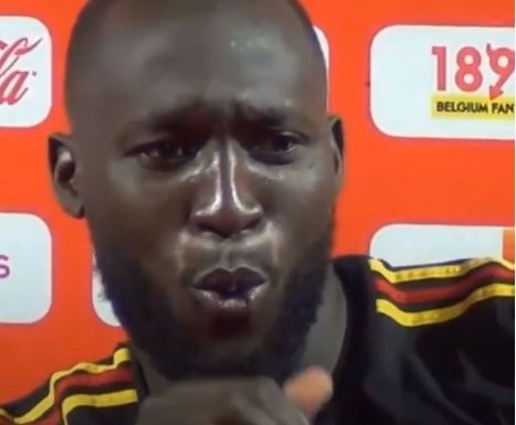 Romelu Lukaku's reaction is priceless when asked if Manchester United are better than Belgium
