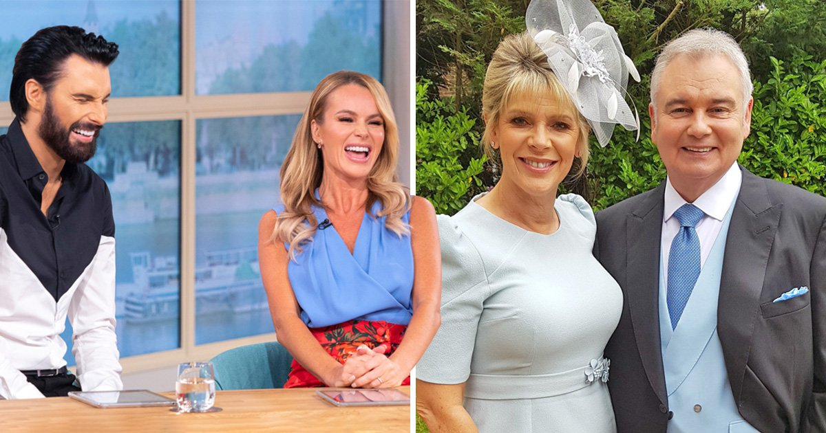 Where are Eamonn Holmes and Ruth Langsford as Amanda Holden and Rylan Clark host This Morning?
