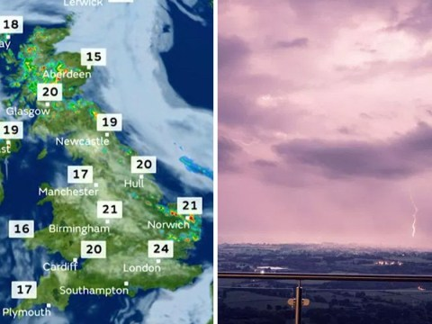 Thunderstorms and torrential rain to lash the UK once again
