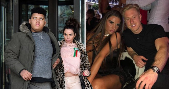 Katie Price, 40, posts first photo of beau Kris Boyson, 29, and reveals he will be training her son Harvey in the gym for new weight loss programme