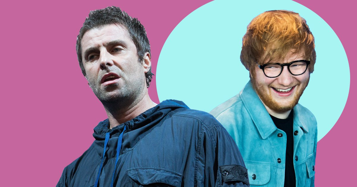 Liam Gallagher would 'rather be naked or set himself on fire' than wear Ed Sheeran's clothes