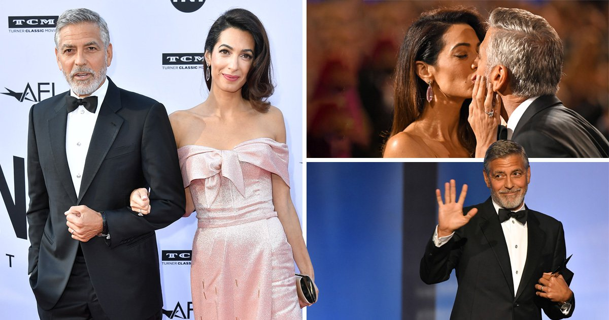 Amal Clooney speaks publicly about 'amazing husband' George for first time as he wins lifetime achievement