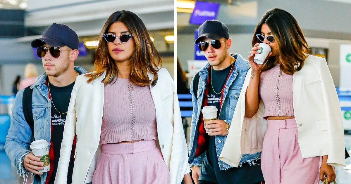 Rumoured couple Nick Jonas and Priyanka Chopra spotted jetting off on holiday together