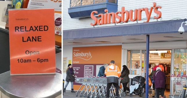 Sainsburys are trialling a new relaxed lane for people who suffer from dementia
