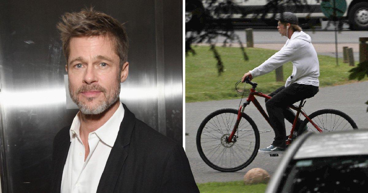 Brad Pitt enjoys a leisurely cycle around London as courts grant him more custody of children