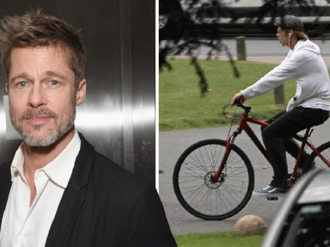 Brad Pitt enjoys a leisurely cycle around London as courts grant him more custody of children