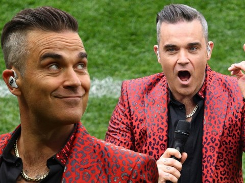 Did Robbie Williams just flip the whole planet the bird during the World Cup opening ceremony?