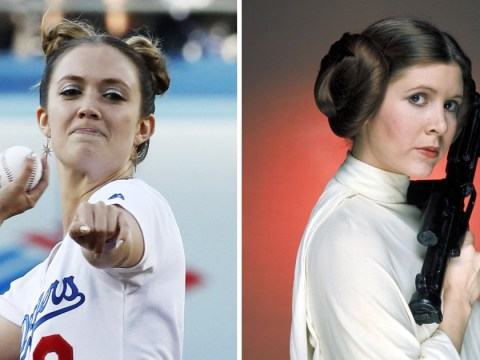Billie Lourd pays sweet tribute to mum Carrie Fisher with Princess Leia buns at baseball game