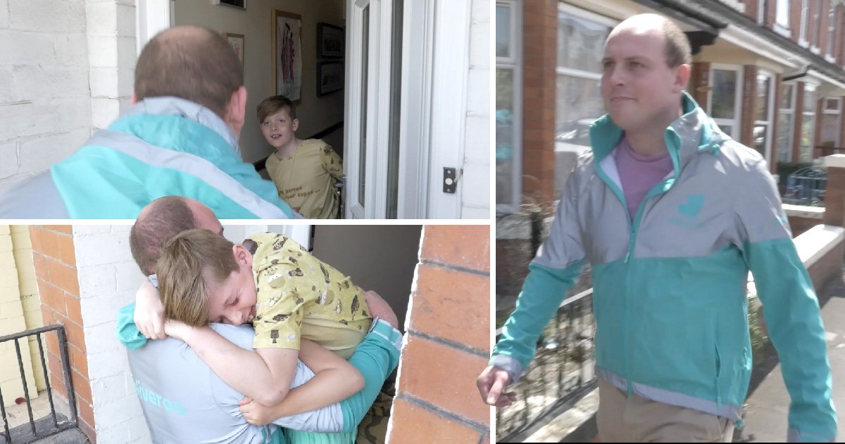 Army dad disguises himself to surprise young kids just in time for Father's Day