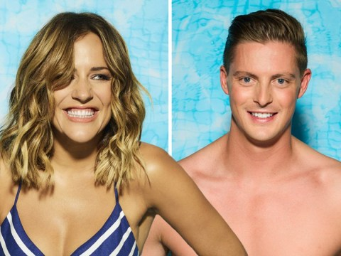Love Island's Dr Alex gets pied off by Caroline Flack after he calls her his 'ideal woman'