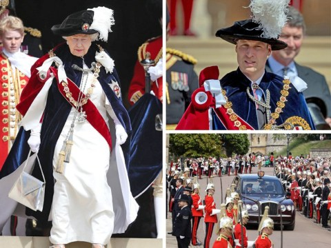 Hundreds join Queen for annual Order of the Garter ceremony at Windsor Castle